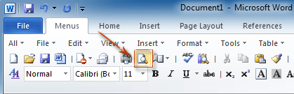 word document printing too small