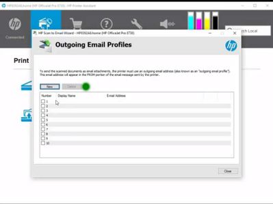 hp scan document to email
