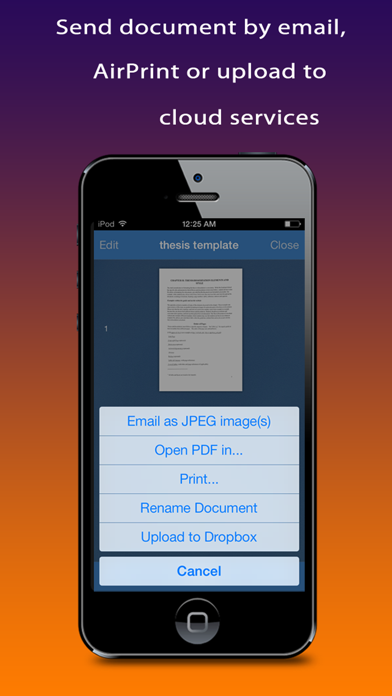receipt and document scanner app