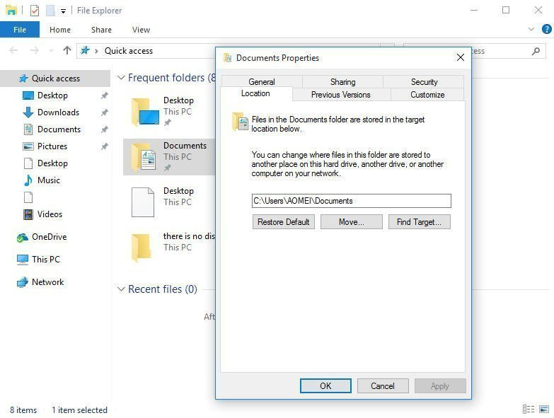 document backup for windows 10