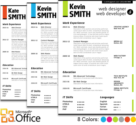 how to make a word document look like a portfolio
