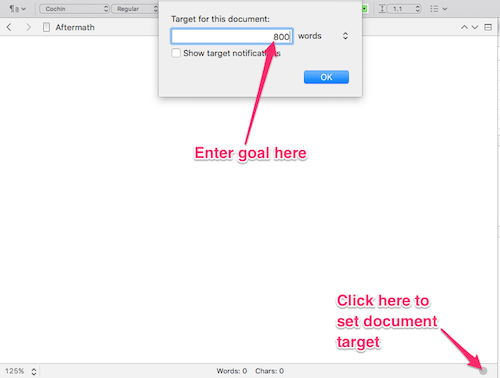 how to open word count on google document for mac