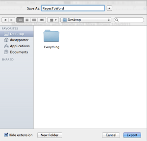 pages to word document convertor