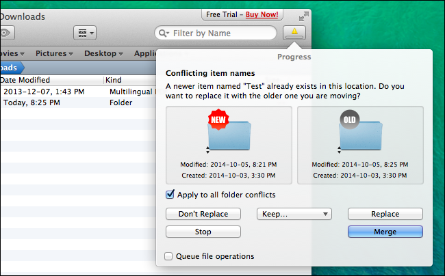 how to move a document to a folder on mac