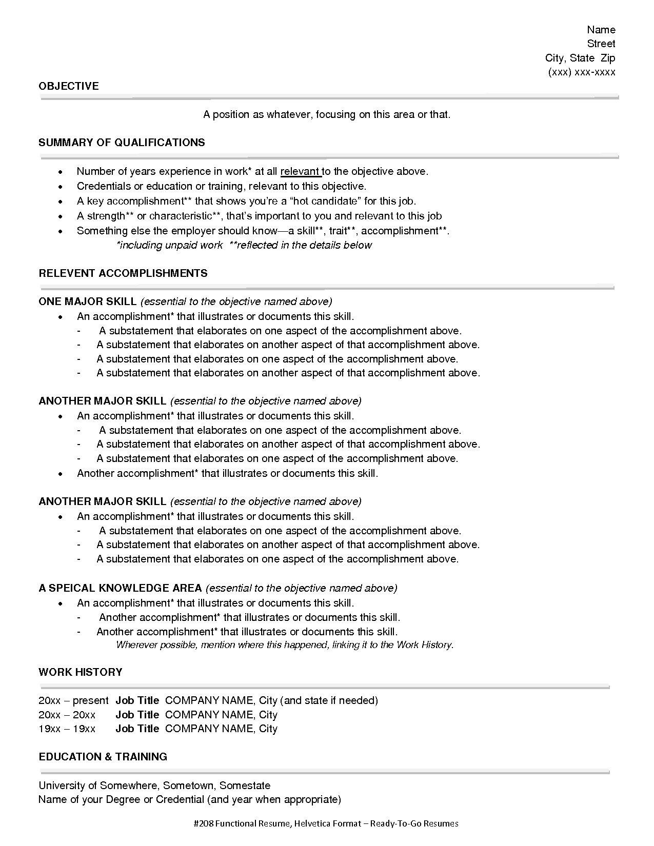 functional design specification document template