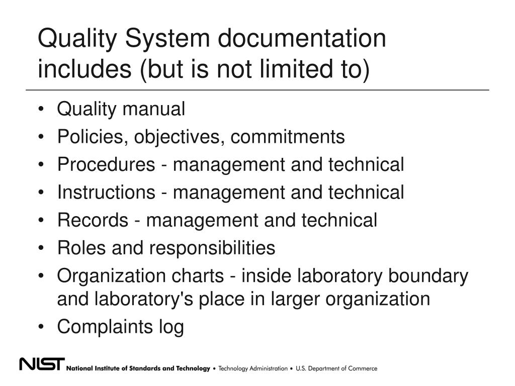 what is quality system documentation