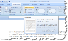 how to add a watermark to a word document 2003
