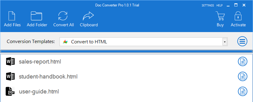 chrome html document to word converter
