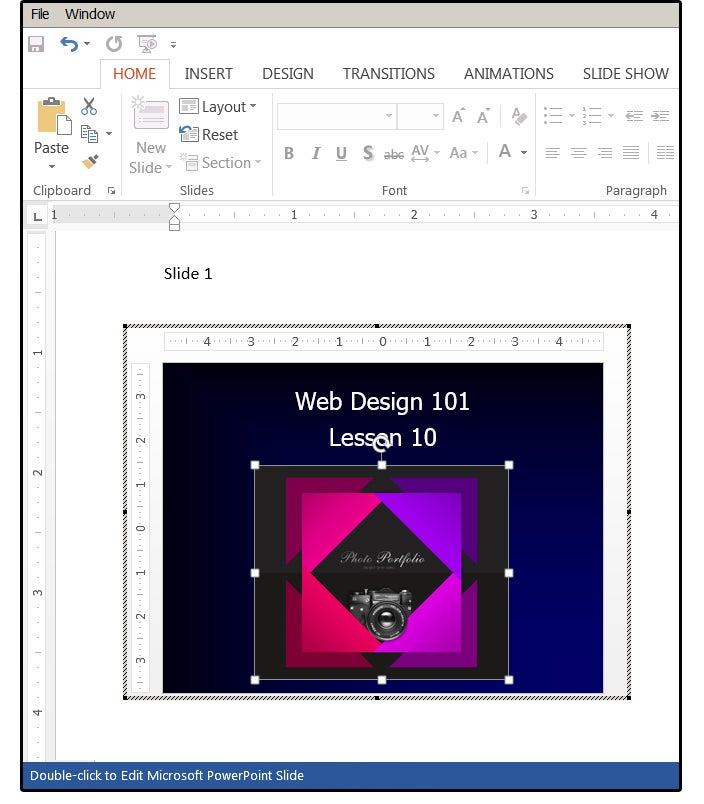 how to transfer powerpoint to a word document
