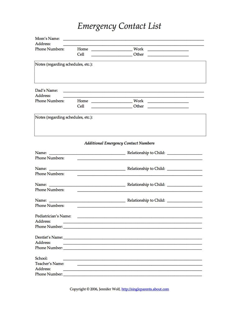 family registration document with details of parent s