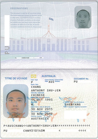 type of travel document means