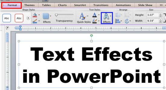 a text box can be rotated within the document