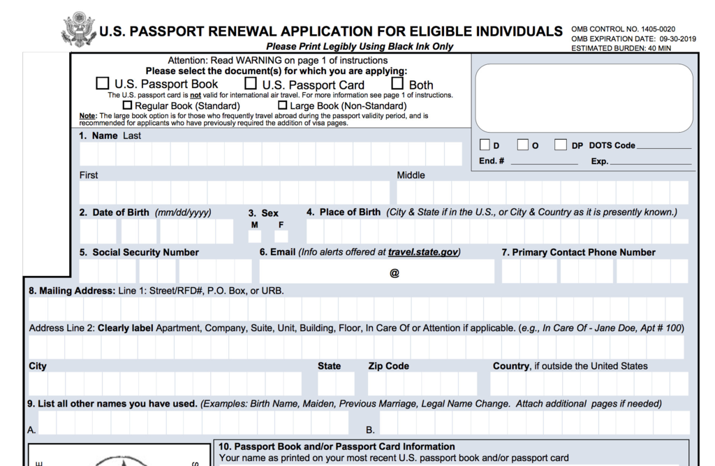 how to renew travel document in us