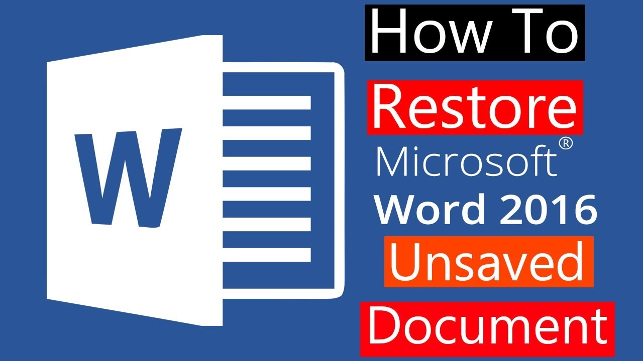 how do you recover an unsaved word document