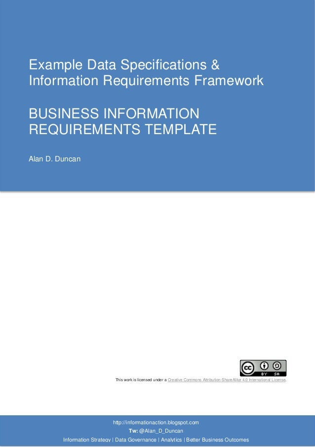 business requirements document for reporting