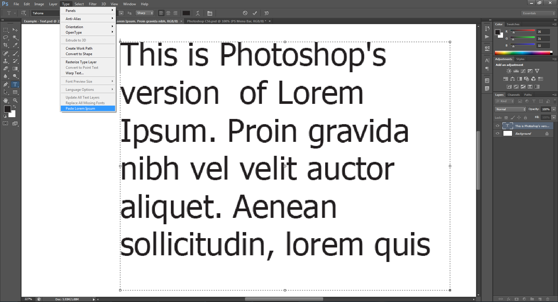 photoshop cs6 mov not the right kind of document