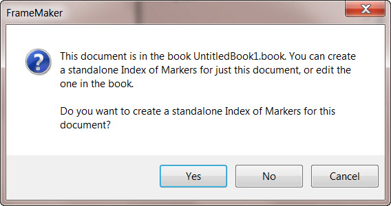 how to create index in a document