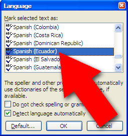 how to put accent marks on word document