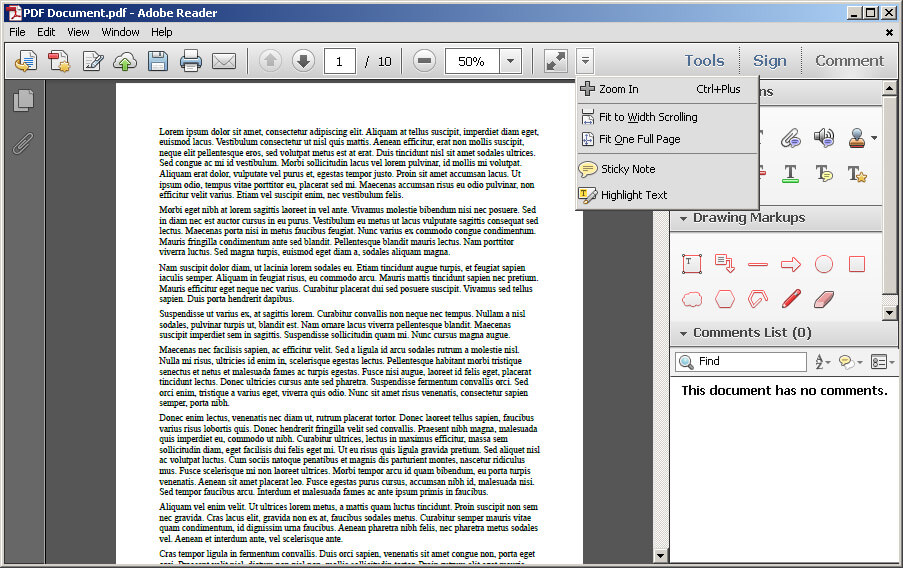 rotate document in adobe reader