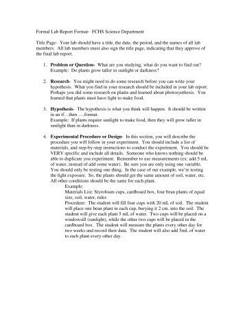 page format of a formal document