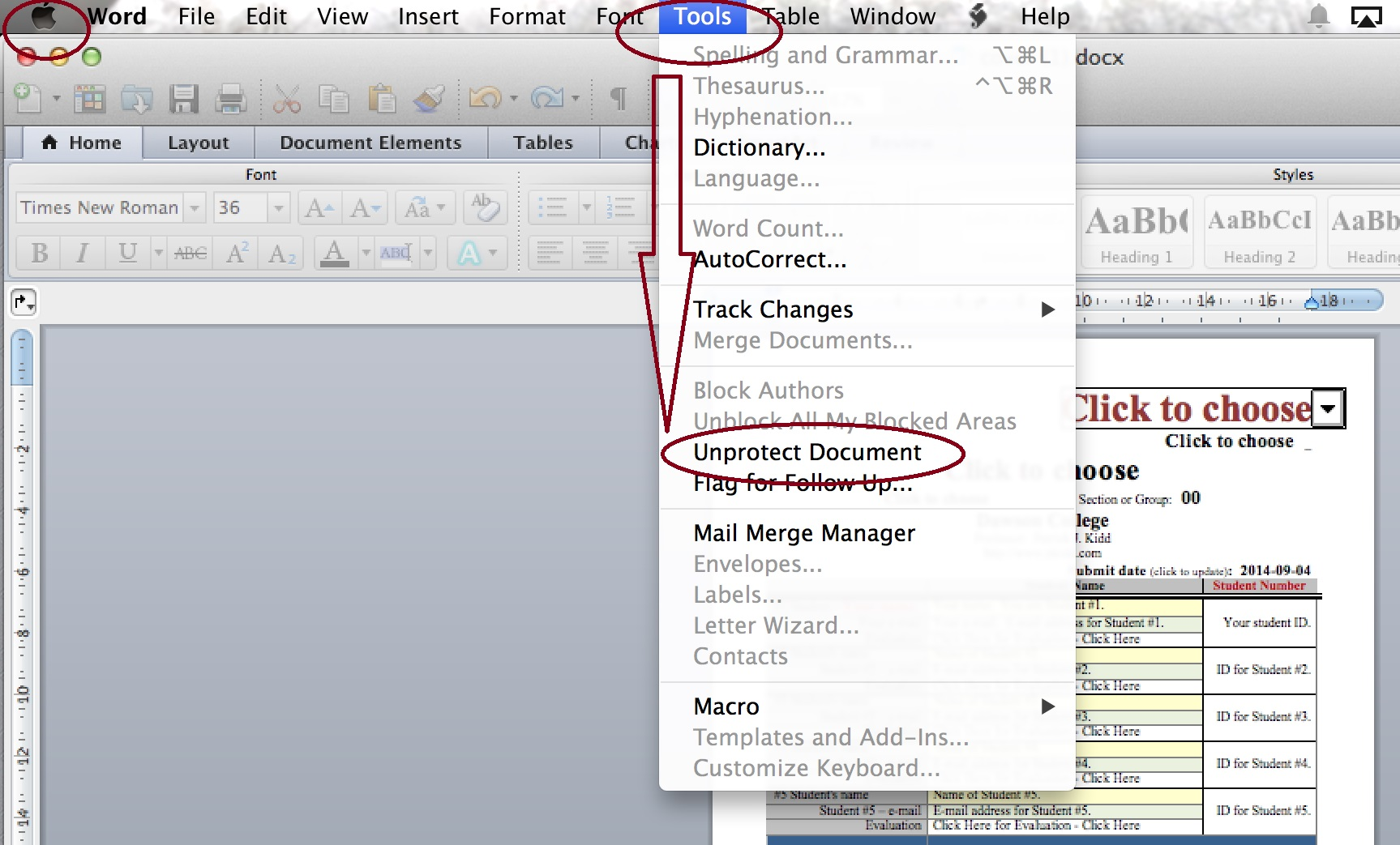 how to unprotect a word document 2013