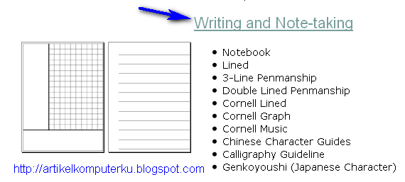 cornell note paper word document