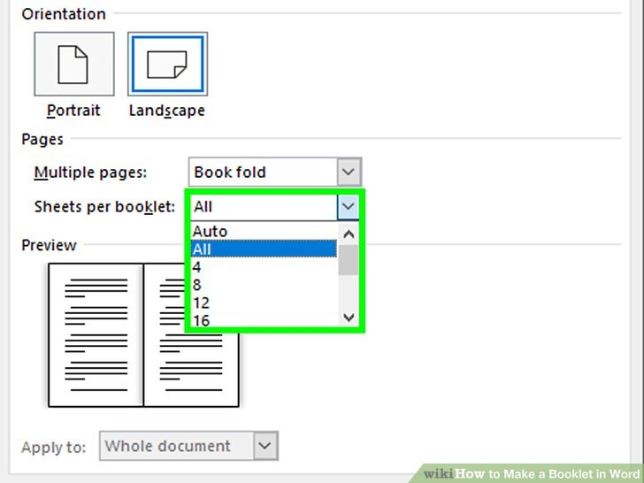 print word document as booklet