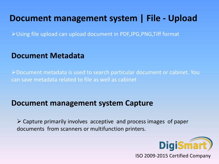 benefits of document management system pdf