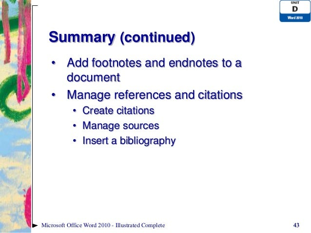 how to insert a document in word 2010