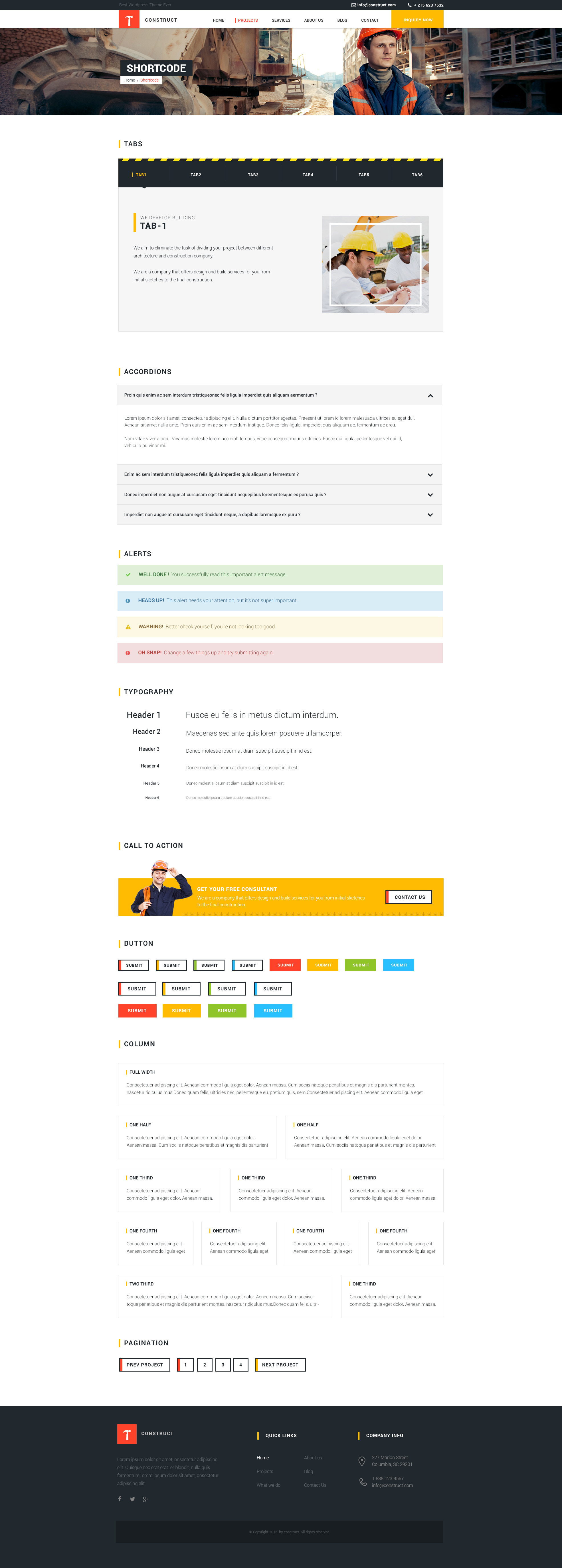 the contractor themeforest documentation