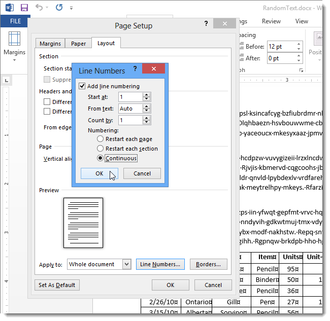 how to increase the page margin of word document