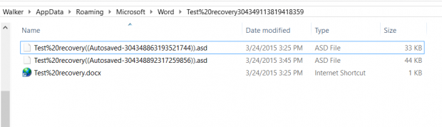 how to recover unsaved word document 2015