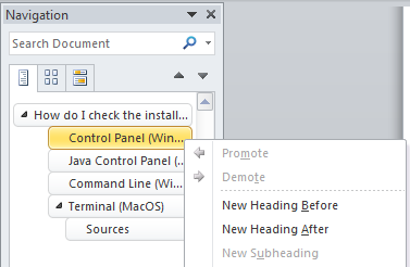 how to change document title in header