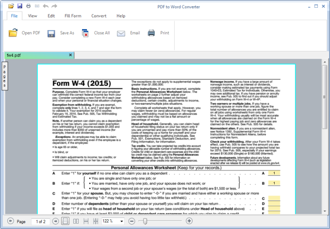 convert pdf file into word document free software