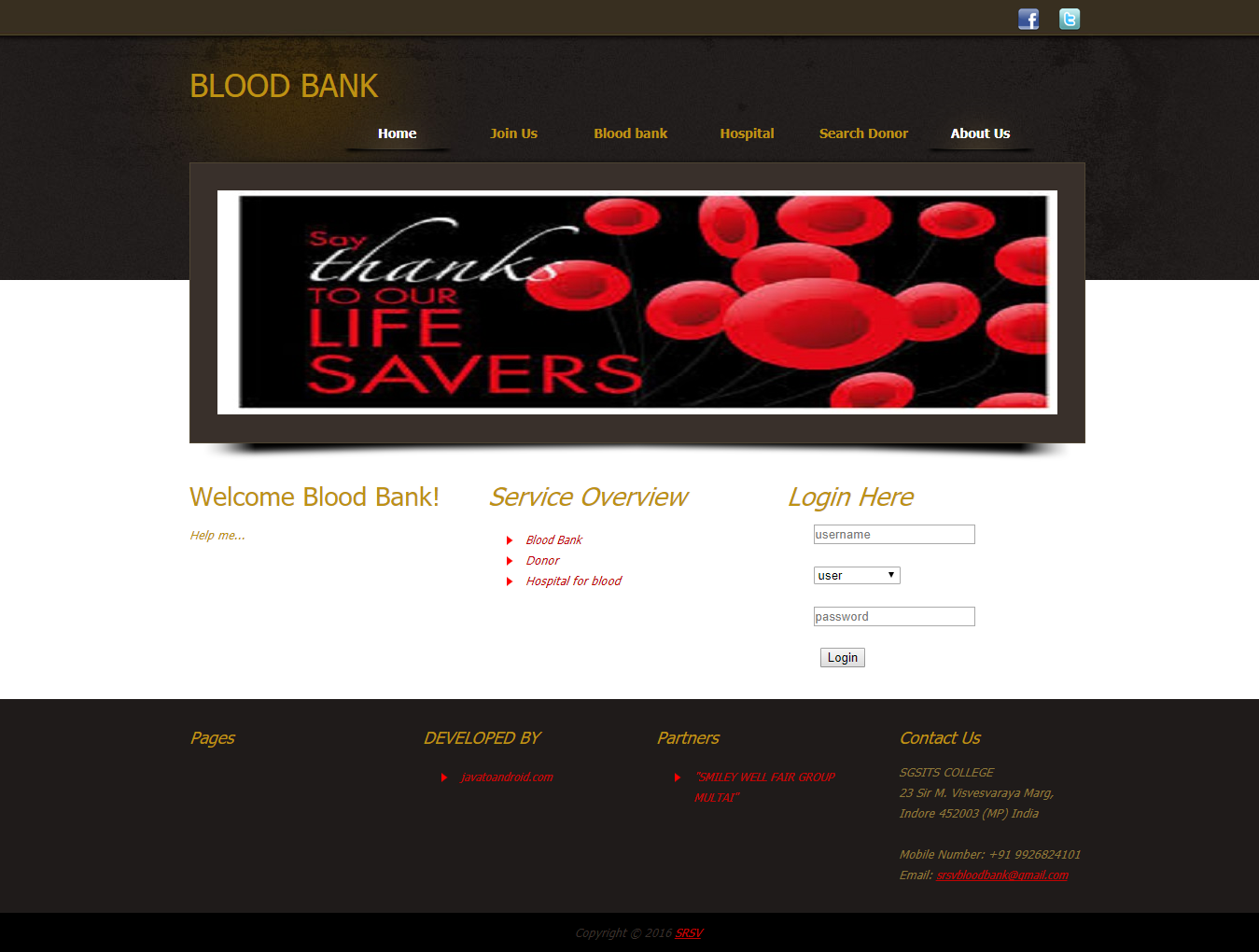 blood bank management system project documentation in java