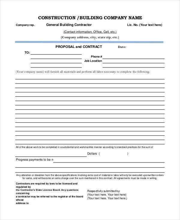 project proposal document template free