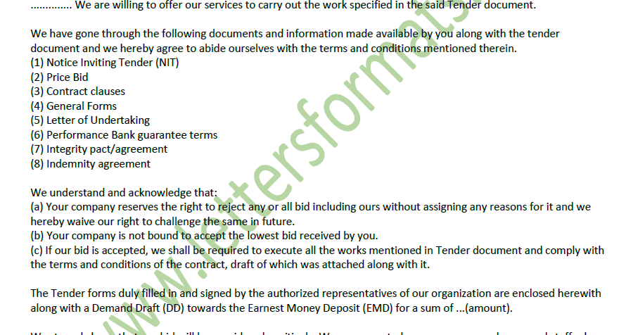 application for purchase tender document
