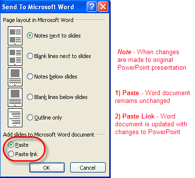 how to attach power point document into word document