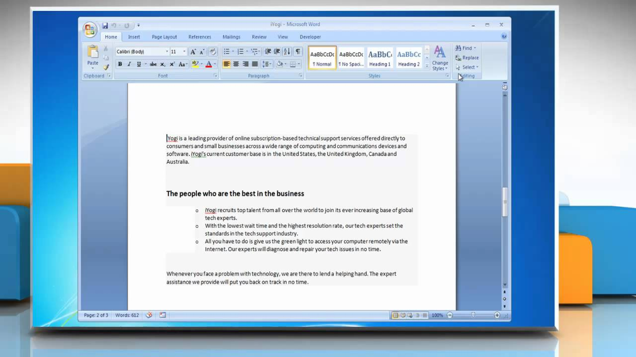 how to delete a page in a word document 2007