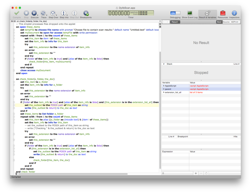 applescript open new word document