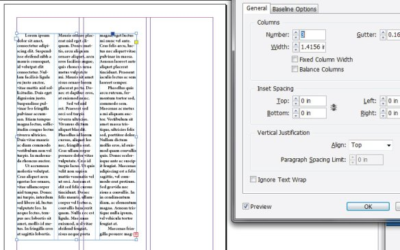 where to see document dimensions in indesign