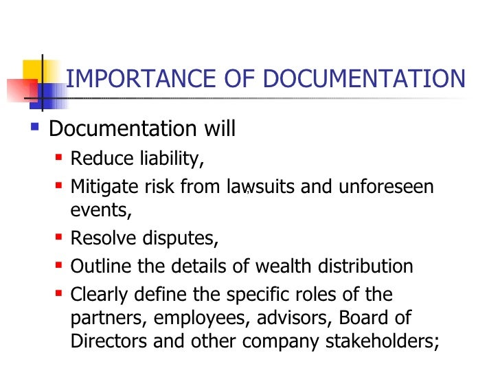 reasons importance of documentation