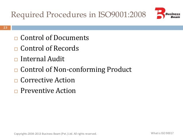 controlled document definition iso 9001