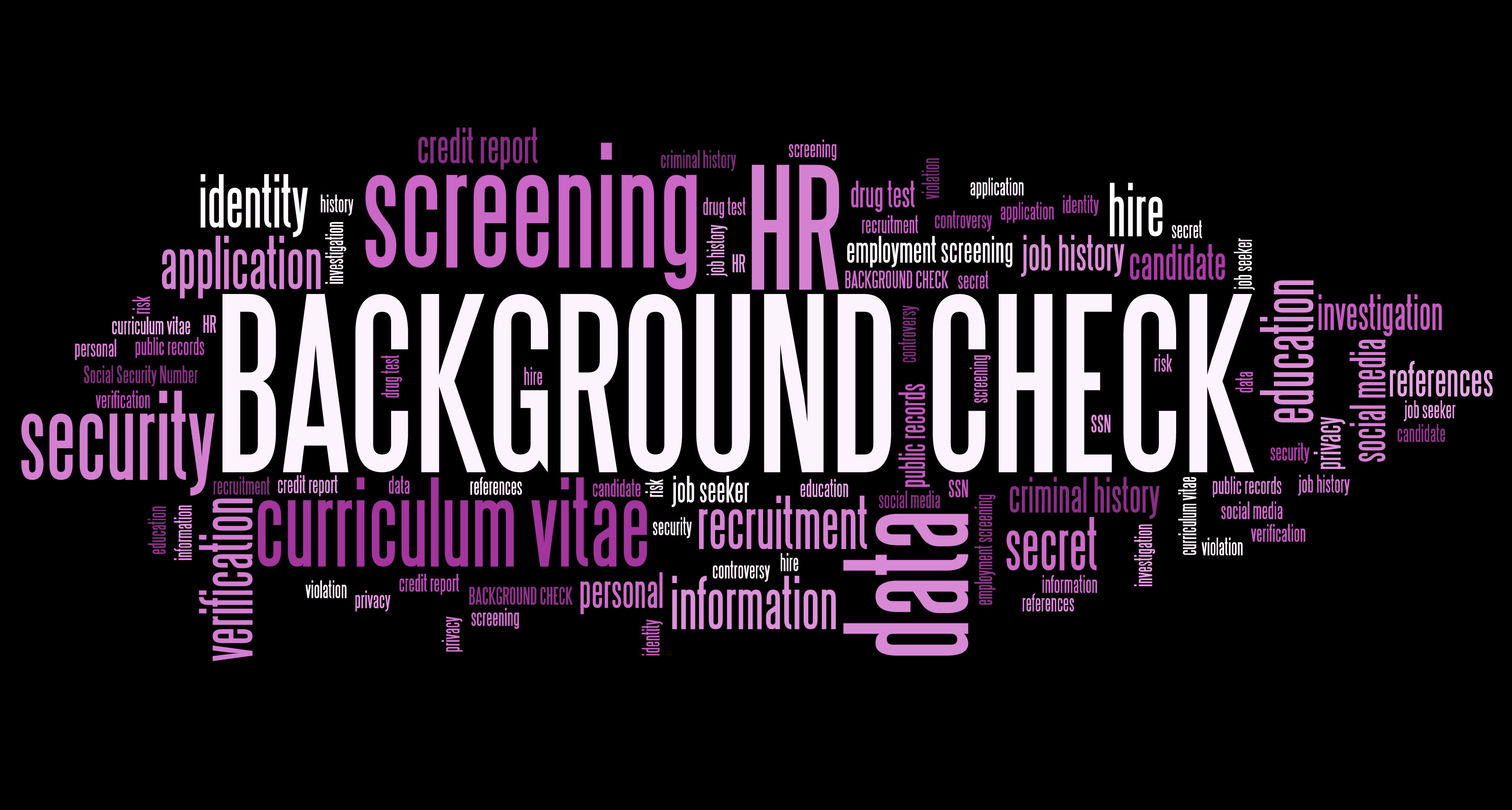 check references security clearances and personal documentation as required