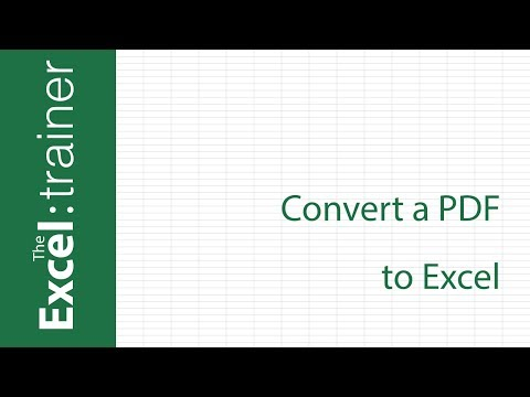 convert adobe to excel document