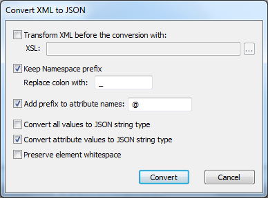 converter json to xml document
