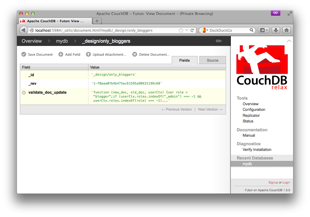 couchdb get document by id