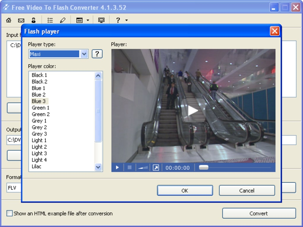 how to convert flash document to video