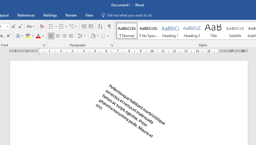how to rotate word document
