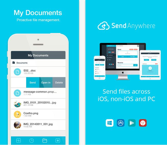 how to send a document to android